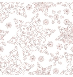 Seamless winter background with snowflakes vector