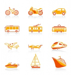 Transportation icons | juicy vector