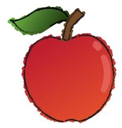 Scribble apple vector