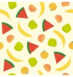 Bright fruit seamless pattern vector
