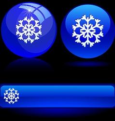 Beautiful snowflake vector