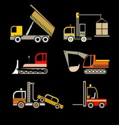Construction vehicles vector