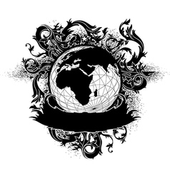 Grunge earth design vector