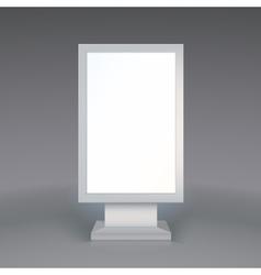 Digital signage blank advertising billboard on vector