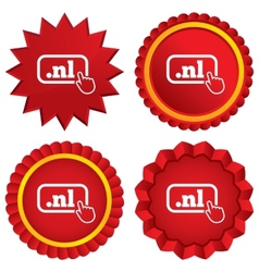 Domain nl sign icon top-level internet domain vector