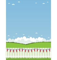 Uk picket fence vector