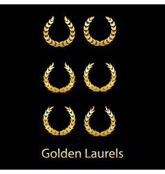 Golden laurels vector