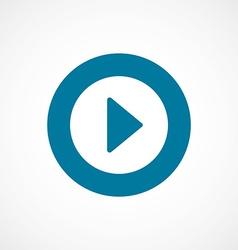 Play bold blue border circle icon vector
