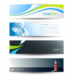Header banners vector