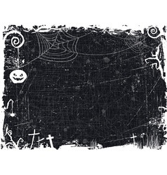 Black and white grunge halloween frame vector