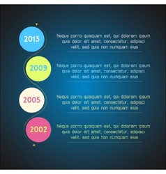 Bright timeline template infographic suitable for vector