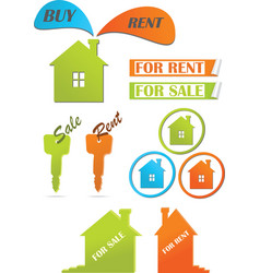 Icons and stickers for real estate vector