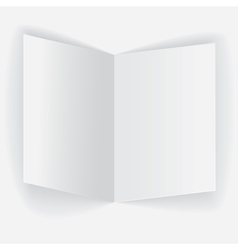 Folded paper sheet vector
