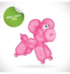 Glossy balloon dog vector