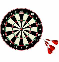Darts on white background vector