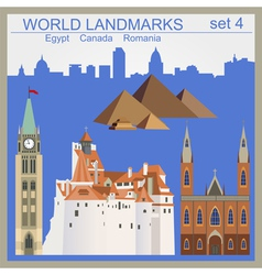 World landmarks icon set elements for creating vector