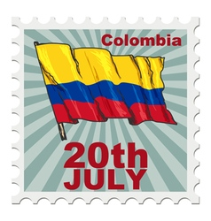 National day of colombia vector