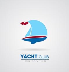 Yacht club vector