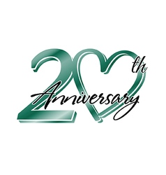 20th anniversary vector