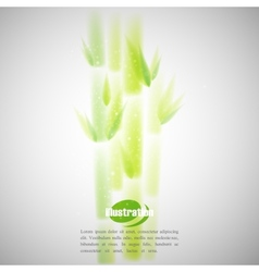 Simple of green bamboo with blurred watercolor vector