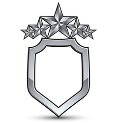 Festive emblem with silver outline and five vector
