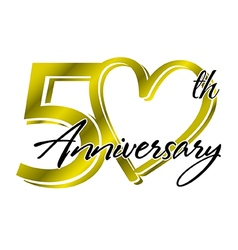 50th anniversary vector