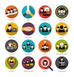 Human resources icons set vector