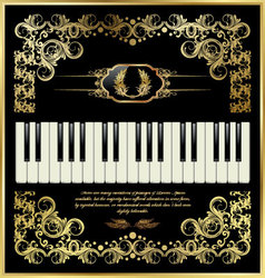Piano keys - elegant background vector