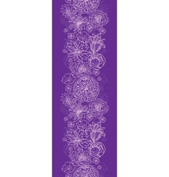 Purple lace flowers vertical seamless pattern vector
