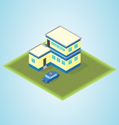 Isometric police station vector