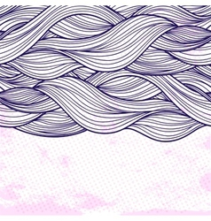 Purple abstract waves background vector