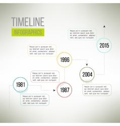 Timeline template infographic suitable for vector