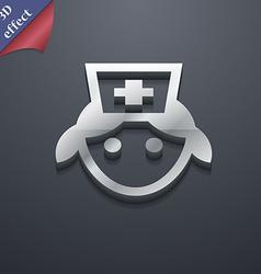 Nurse icon symbol 3d style trendy modern design vector