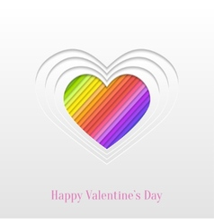 Creative valentines day heart greeting card vector