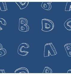 English alphabet seamless pattern vector