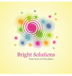 Bright solution background from spirals vector
