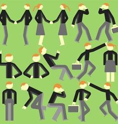 Cartoon bodily movement vector