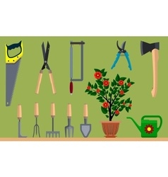 Instrument for gardening vector