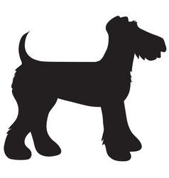 Airedale terrier silhouette vector