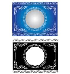 White radial ornament vector