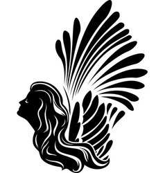 Winged muse symbol vector