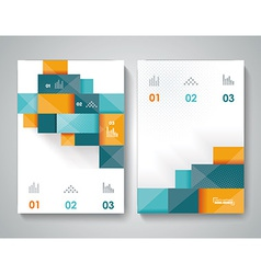 Bbrochure template design with 3d elements vector