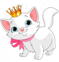 Kitten princess vector