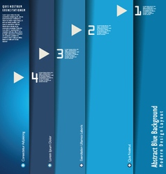 Modern blue design layout vector