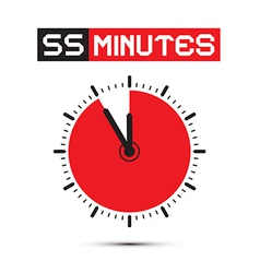 Fifty five minutes stop watch - clock vector