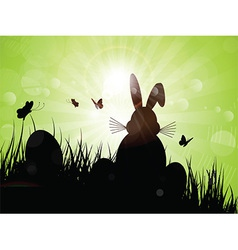 Easter bunny silhouette 1103 vector