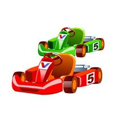 Icon racing car vector