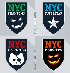 Set of athletic teams emblem and badge vector