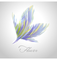 Shiny striped blue flower vector