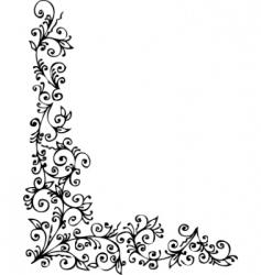 Floral vignette vector